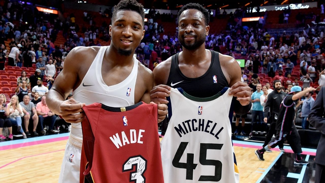 """""""Donovan Mitchell is the modern day Dwyane Wade"""": Kendrick Perkins explains how the Jazz star is similar to the Heat legend"""