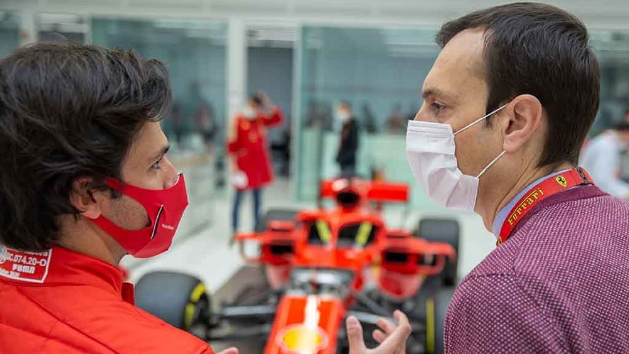 """""""A day I will never forget""""- Carlos Sainz on his first day at Ferrari"""