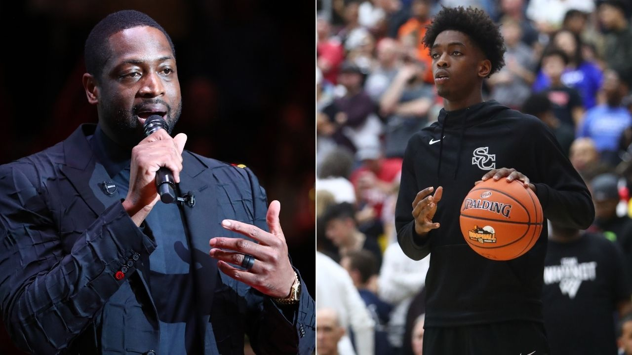 """""""You wanna be me? You gotta beat me"""": Dwyane Wade trash talks his son Zaire Wade in a heated 1 on 1 battle"""