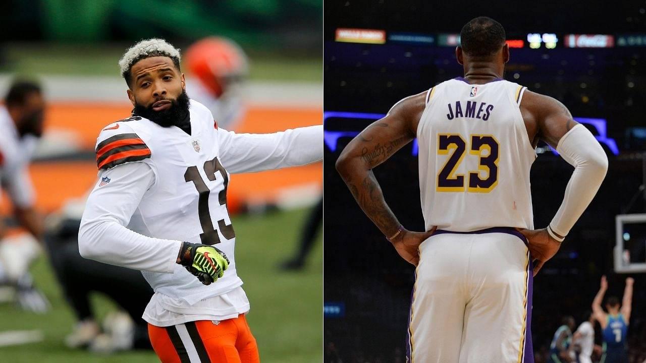 """""""WASHHHHEDDDD LeBron James"""": Odell Beckham Jr makes sarcastic comment on Lakers star's Instagram post"""