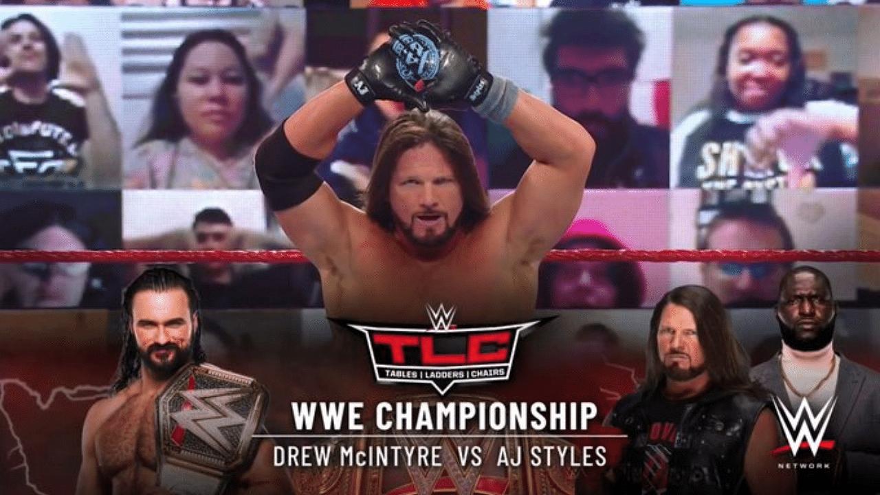 AJ Styles books WWE Championship Match vs Drew McIntyre at WWE TLC