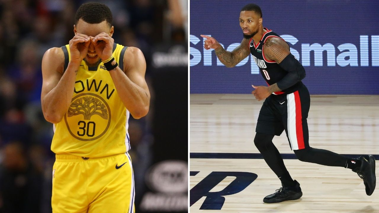 'Lets do it lol opening night, f*** it': Stephen Curry and Damian Lillard make pact to shoot from the logo at 2020-21 season start