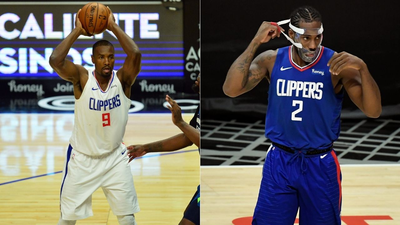 """""""Serge Ibaka can't talk too much, he's on the trade block"""": Masked Kawhi Leonard makes hilarious joke at Clippers teammate's expense"""