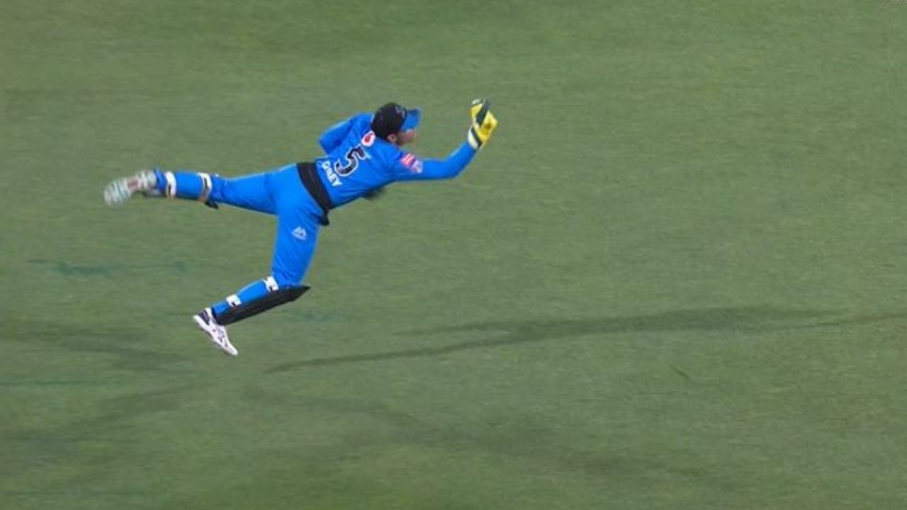 Alex Carey catch today: Strikers captain grabs outstanding diving catch to dismiss Liam Livingstone in BBL 10