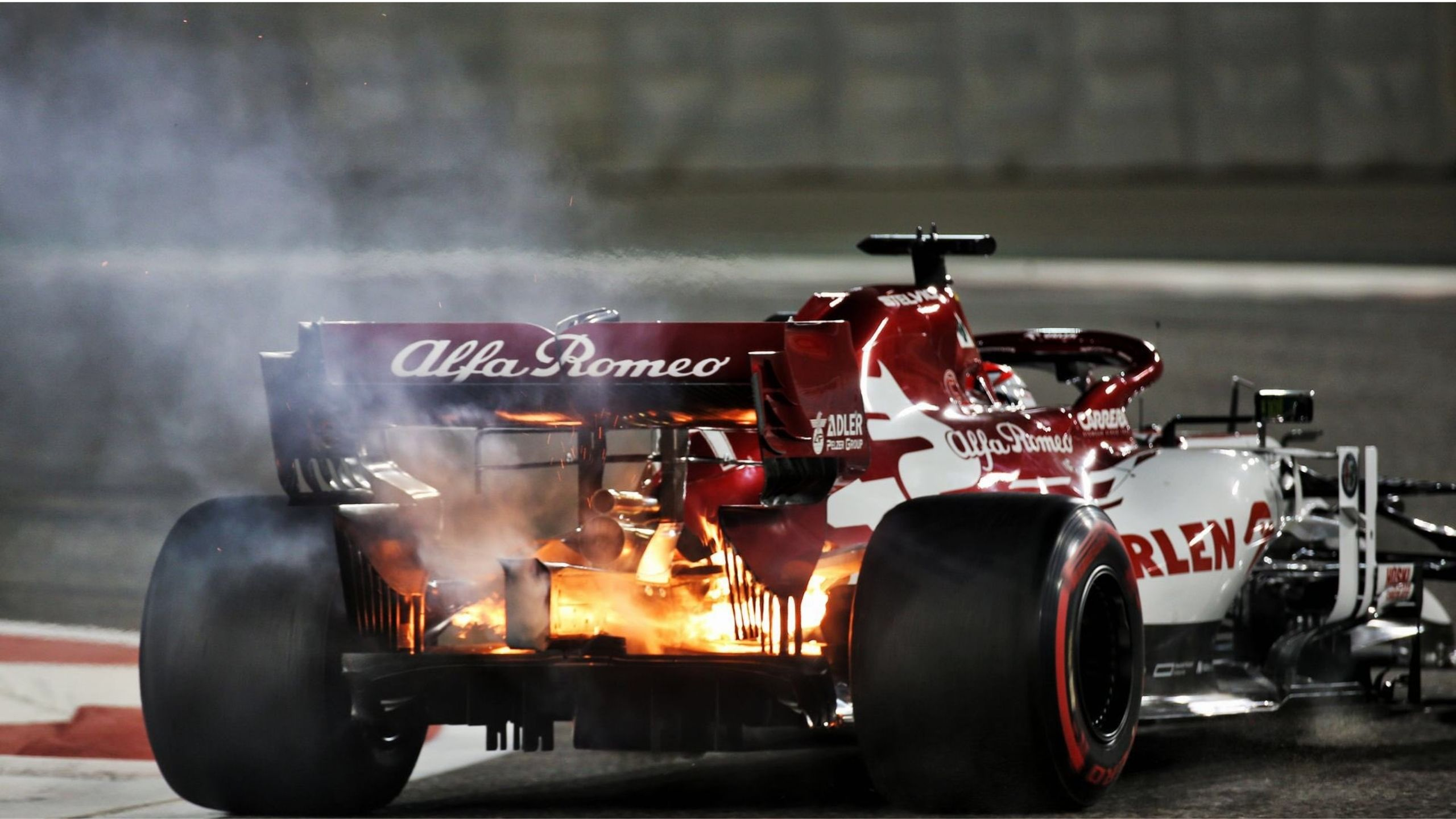 """Nothing scary about it"" - 'Ice Man' Kimi Raikkonen calm about fire on his Alfa Romeo during Abu Dhabi FP2"