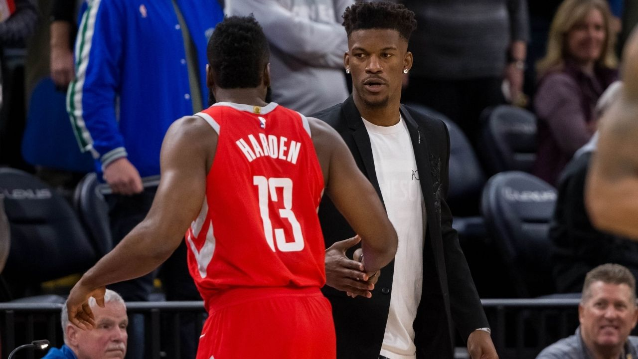 'I just want James Harden to be happy': Jimmy Butler lets his feelings be known about Heat trading for Rockets superstar
