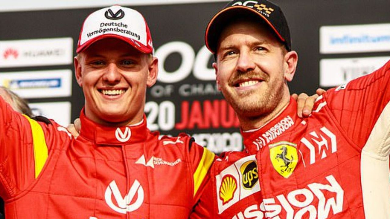 """""""I'm happy to help, but I think it's very important for him to find his own path""""- Sebastian Vettel on Mick Schumacher"""