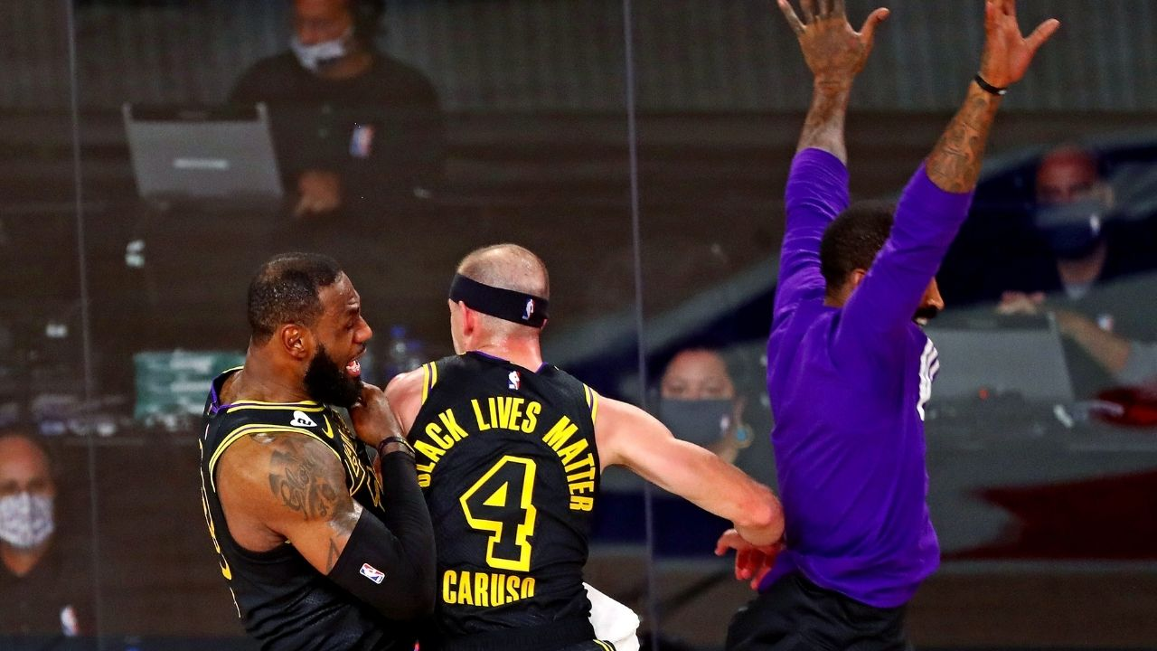 'You can't stop him, you can only hope to contain him!': Lakers' LeBron James was in awe of Alex Caruso's monster putback dunk