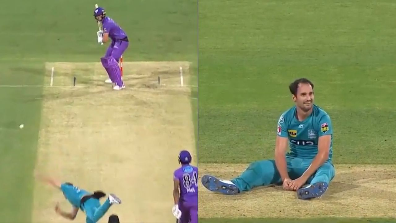 Lewis Gregory: Heat all-rounder's attempted slower ball lands off the pitch; Tim David hits six on free-hit next ball