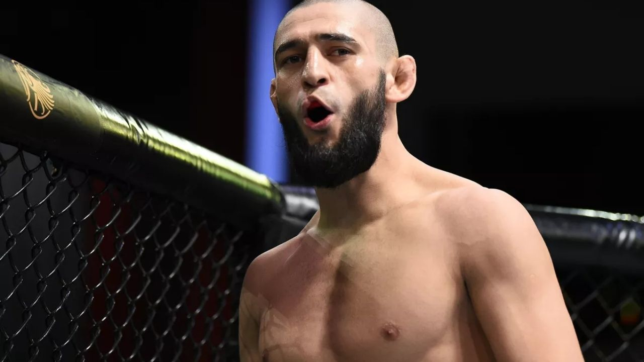 Khamzat reveals big new year's resolution; Posts a photo of himself carrying a UFC title