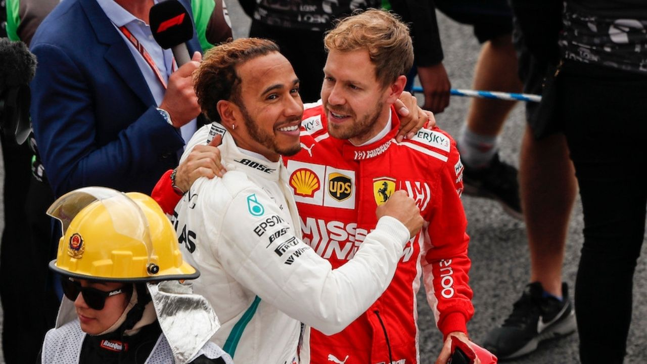 """""""He always cheered me up""""- Sebastian Vettel on how Lewis Hamilton elevated him during his rough summer of 2020"""