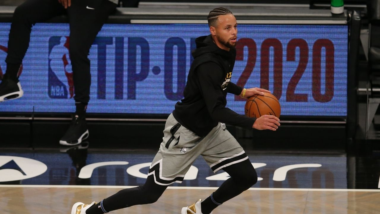 """""""Look at Curry, so inspirational man"""": Bulls announcer praises Warriors' Steph Curry with a meme straight off Internet message boards after a deep 3"""