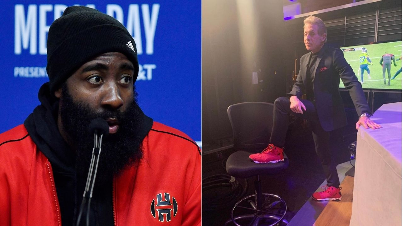 """""""What a night for fat James Harden!"""": Skip Bayless manages to mock Rockets star while complimenting him for 44 point night vs Damian Lillard and co"""