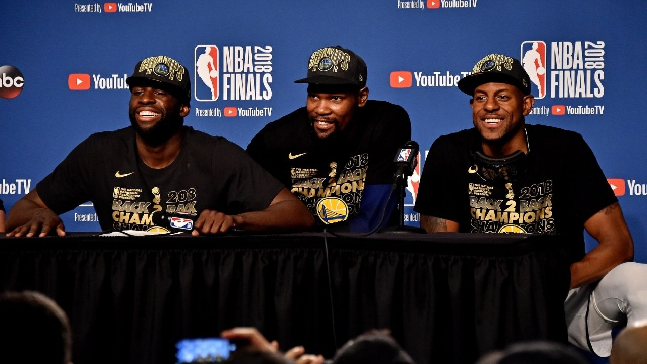 """""""Kevin Durant is a God"""": Andre Iguodala explains why James Harden is so happy to share the court with Nets star once again"""