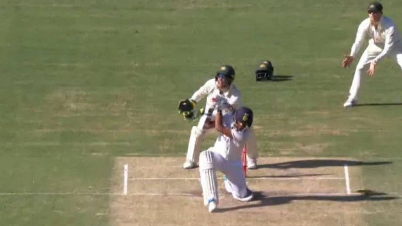 Washington Sundar no-look six: Watch Sundar hits incredible slog off Nathan Lyon in Brisbane Test
