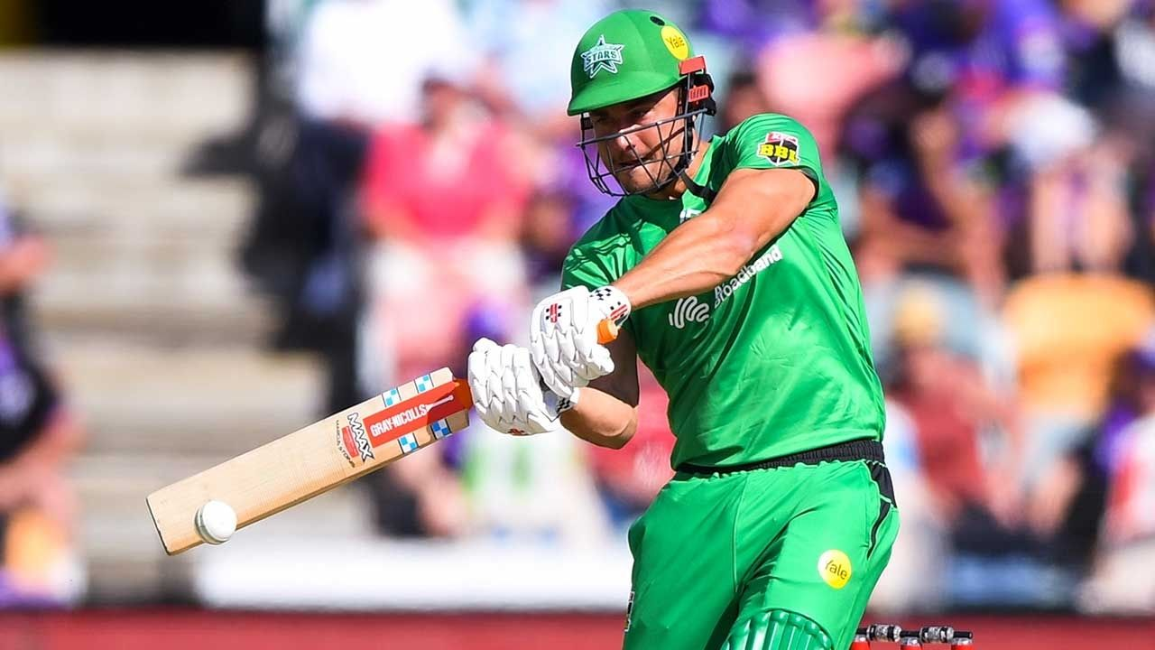 Marcus Stoinis: Stars all-rounder narrowly misses BBL century despite hitting four fours off Scott Boland's last over