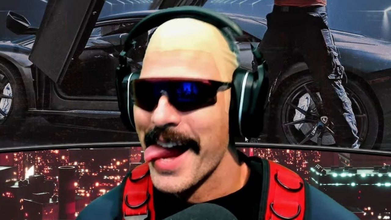 Dr Disrespect plays Hitman 3: Dr Disrespect cosplays Agent 47 by streaming Hitman 3 playthrough with bald cap on