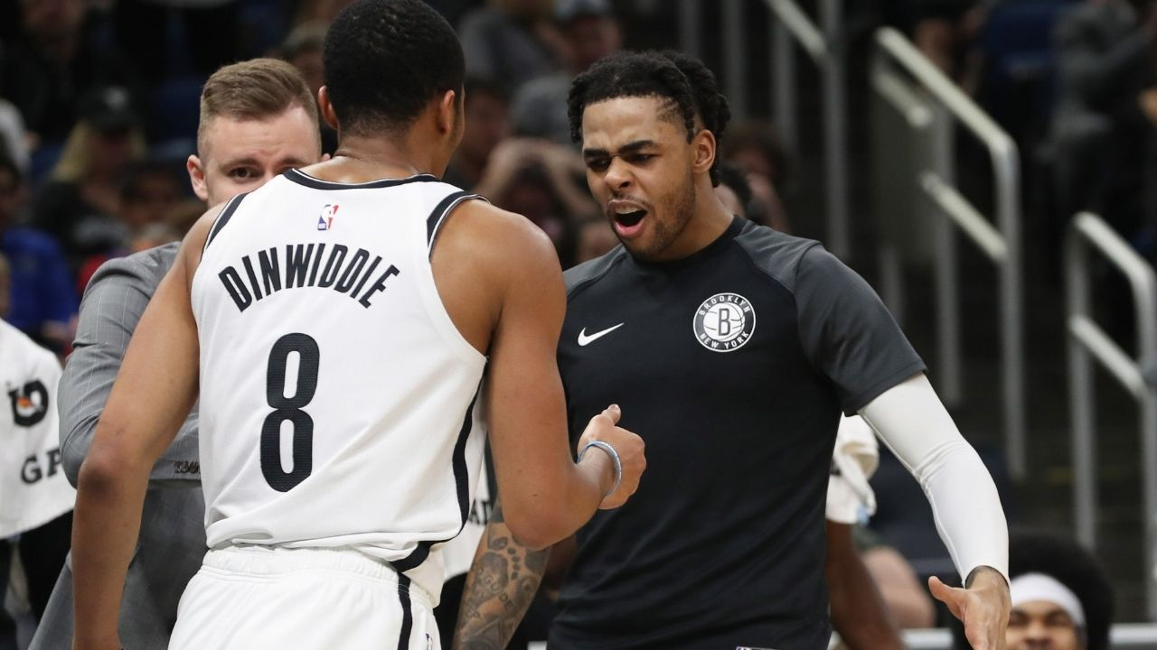 """""""I'm still playing here"""": Spencer Dinwiddie hilariously responds to Nets graphic commemorating him, Caris LeVert and D'Angelo Russell as builders of today's team"""