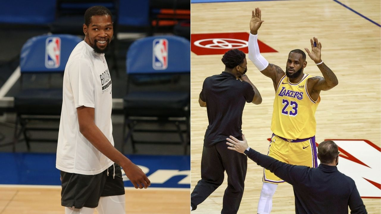 """""""Like LeBron James, Kyrie Irving and Kevin Durant need a stacked team to win"""": Kendrick Perkins defends Lakers star for recruiting superstars"""