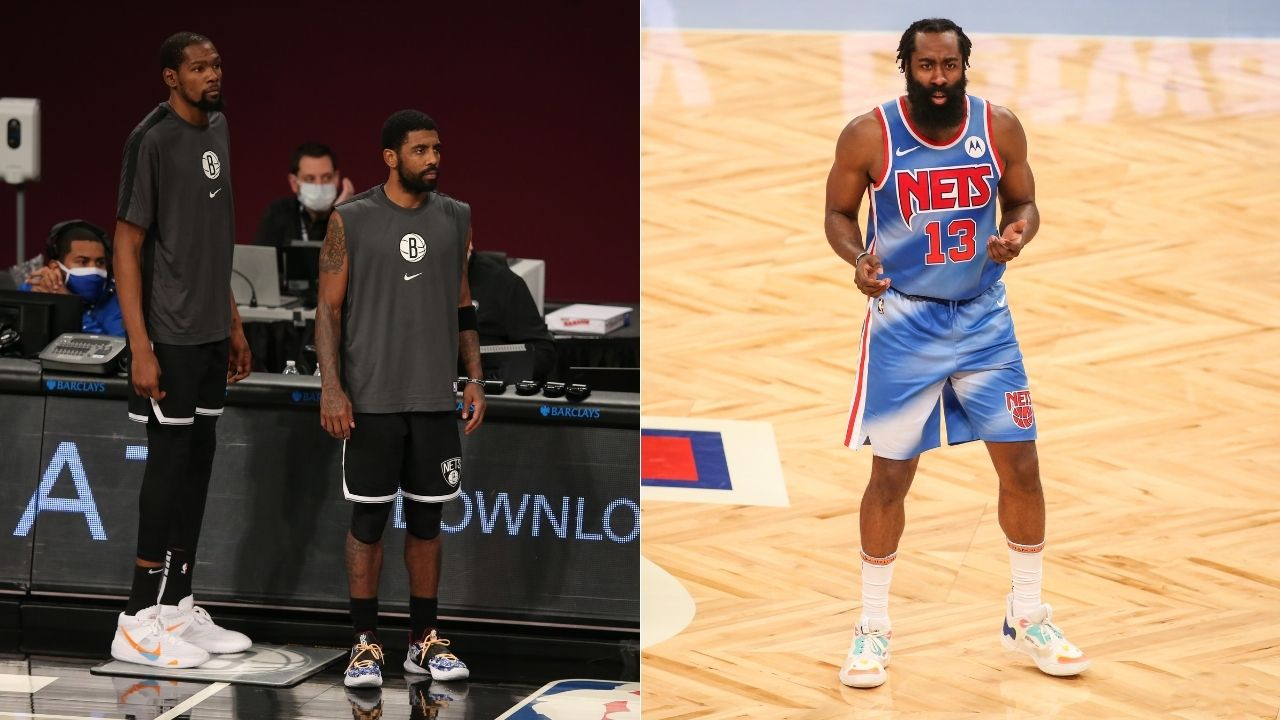 """""""No Kyrie Irving and we still won, it's scary hours"""": James Harden notches triple-double in his debut, hypes up his first win with Kevin Durant and Nets"""