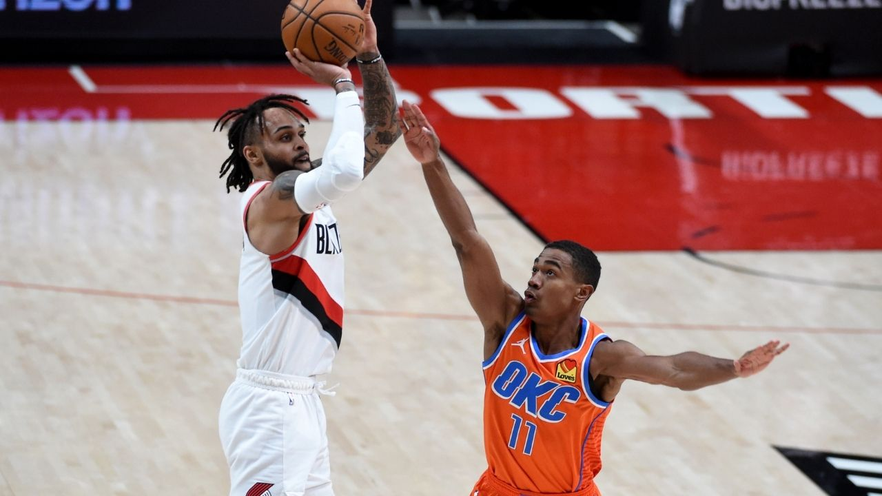 'Gary Trent Jr with one of the biggest flops you'll ever see': Trail Blazers' announcers hilariously talk about their guard flopping against OKC Thunder