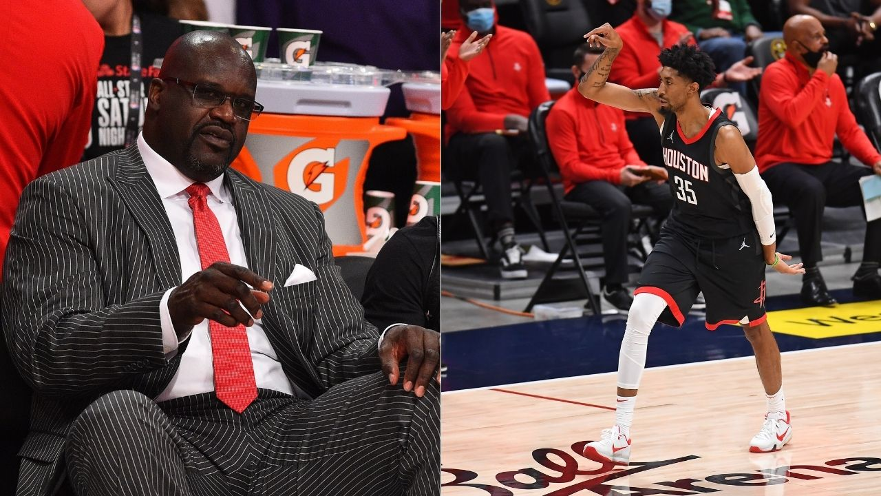 """""""Shaq, you're a casual"""": James Harden's former teammate Christian Wood hilariously roasts Lakers legend Shaquille O'Neal following a Rockets win"""