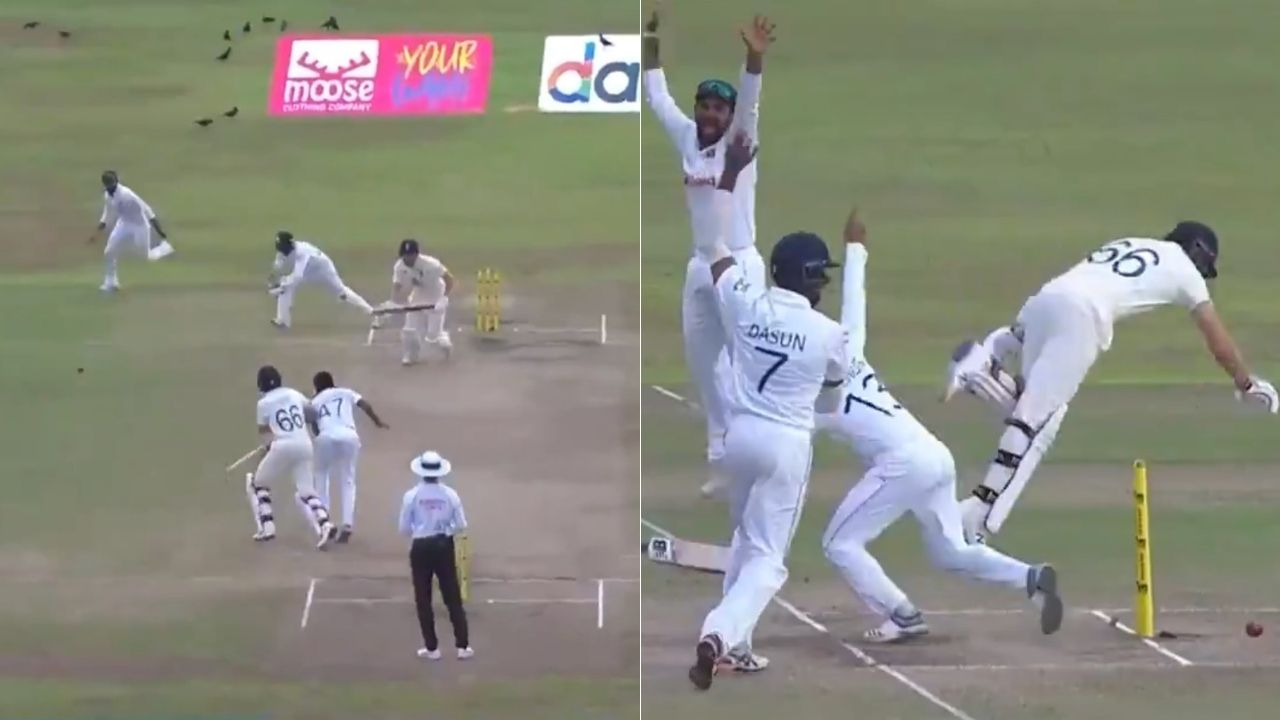 Joe Root run out in Galle Test: Watch English captain's collision with Dilruwan Perera results in unfortunate dismissal