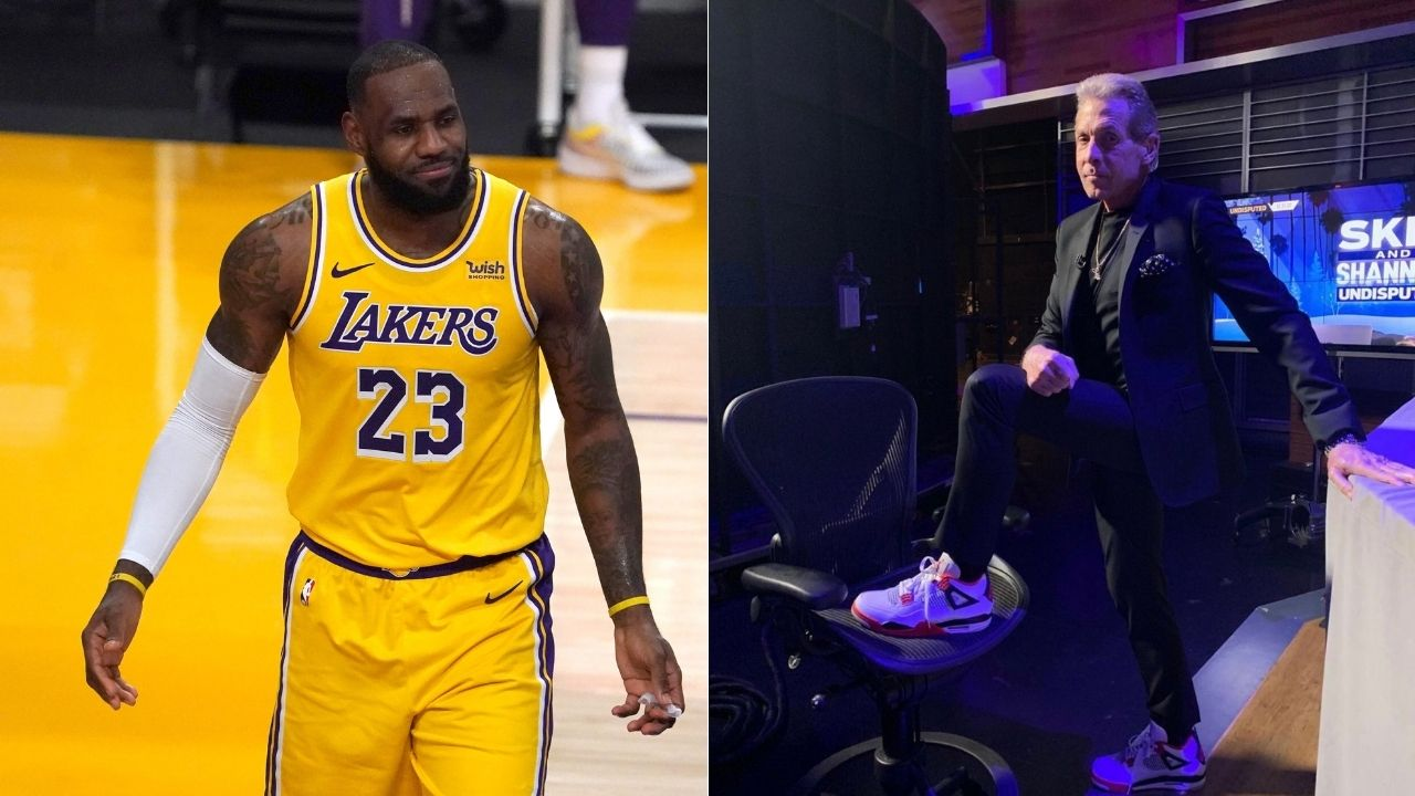 """""""LeBron James won't be facing kids if he makes NBA Finals"""": Skip Bayless disses Lakers' 2020 Bubble championship, says James Harden trade makes Nets favorites"""