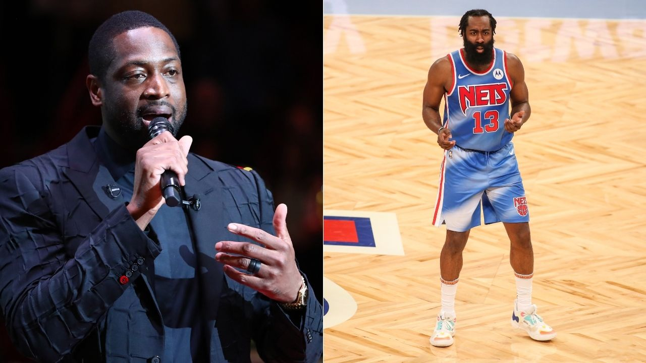 """""""I'm happy for this black man"""": Dwyane Wade praises James Harden for being able to force Nets trade after triple-double debut"""
