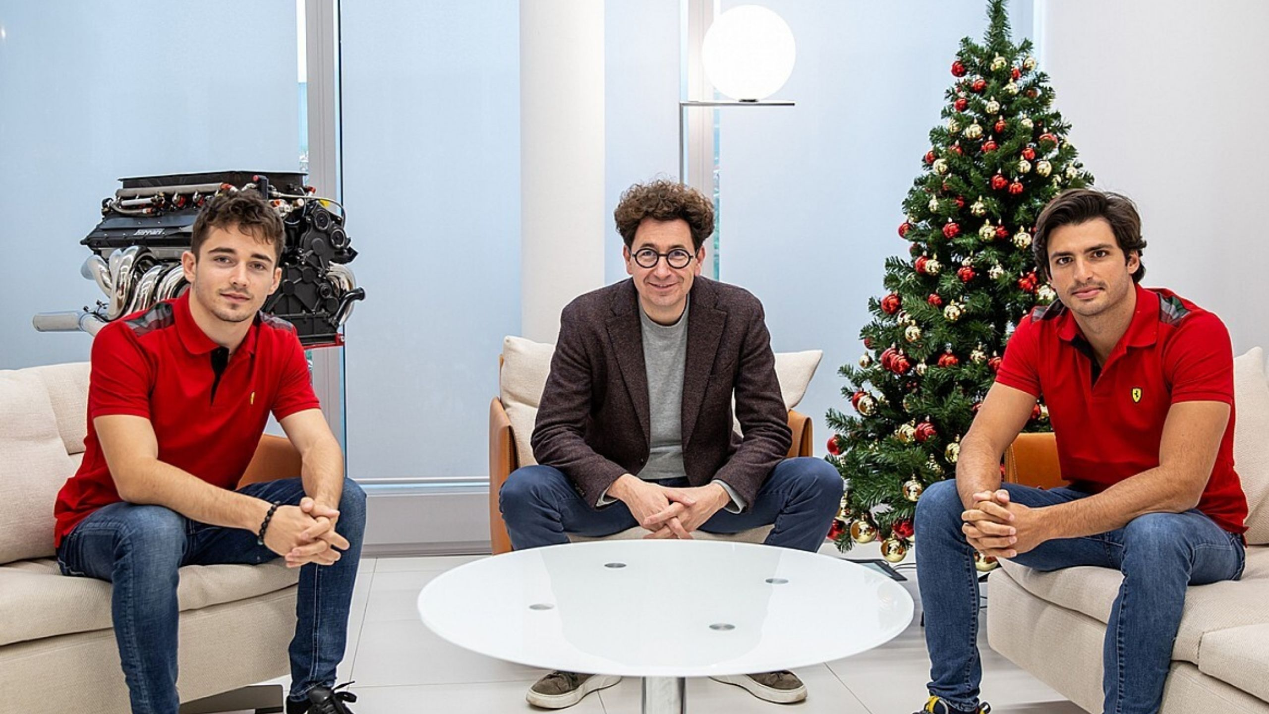 """""""I am expecting him to be a great teammate for Charles"""" - Mattia Binotto hoping for great things from Ferrari teammates Carlos Sainz and Charles Leclerc"""