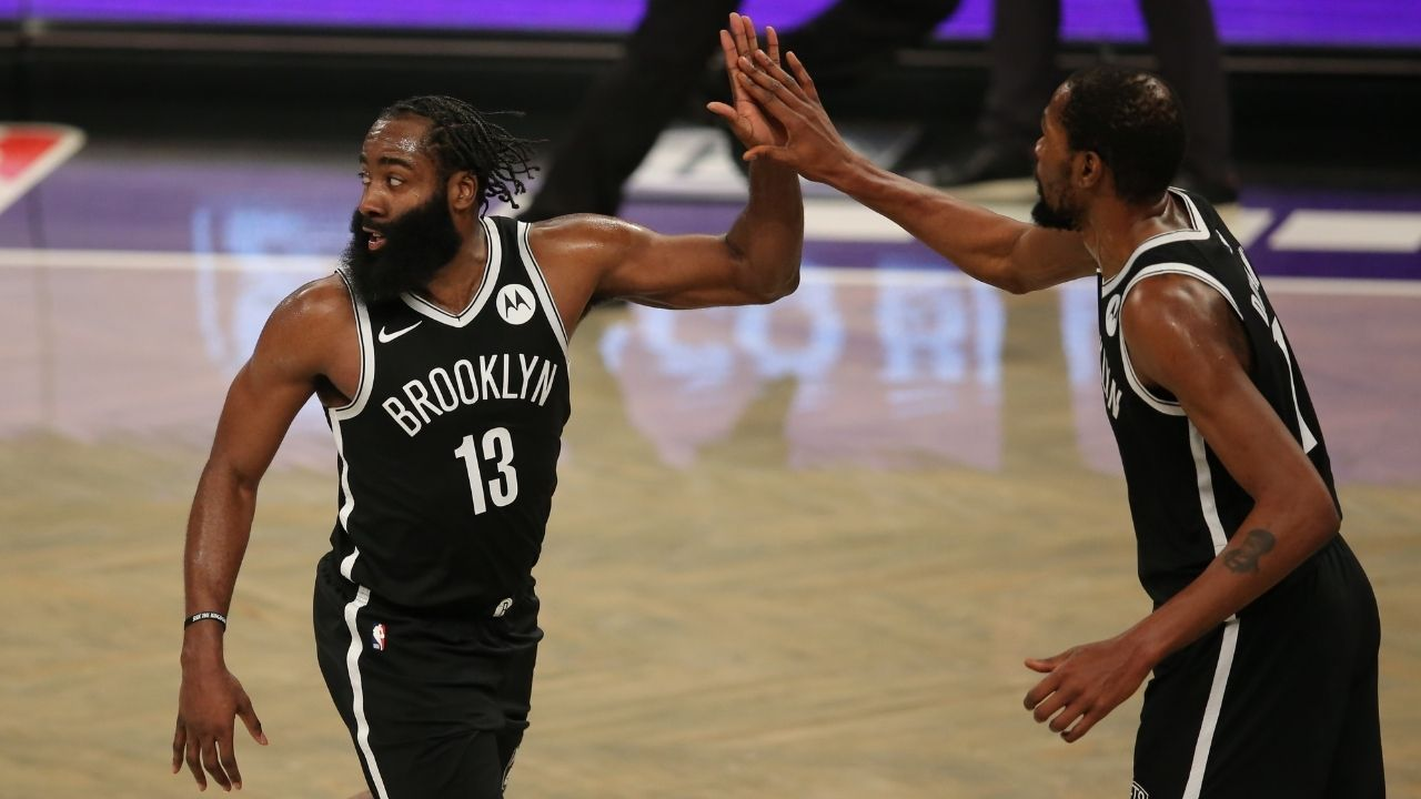 """James Harden opens up about his reduced role alongside Nets' Kyrie Irving and Kevin Durant: """"It's a different experience, but it's still great"""""""