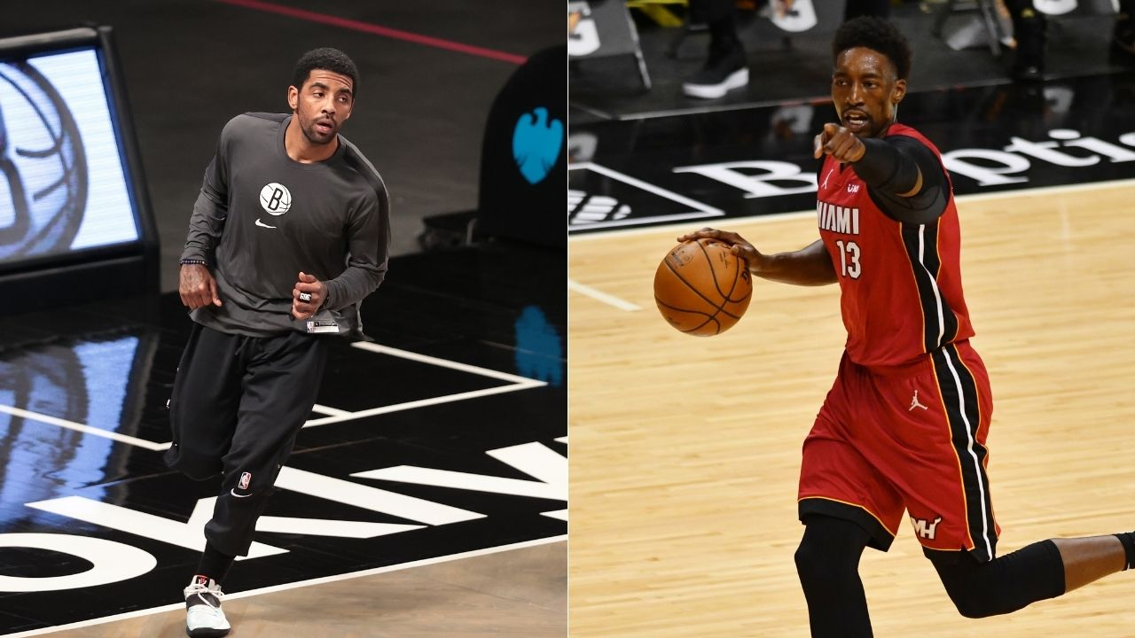 """You can sweat on and body each other all game long but no hugs?"": Kyrie Irving and Bam Adebayo not allowed to swap their jerseys after Nets win over Heat"