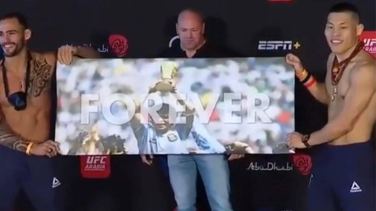 Santiago Ponzinibbio Pays Tribute To Argentine Football Legend Diego Maradona At UFC Fight Island 7 Face-offs