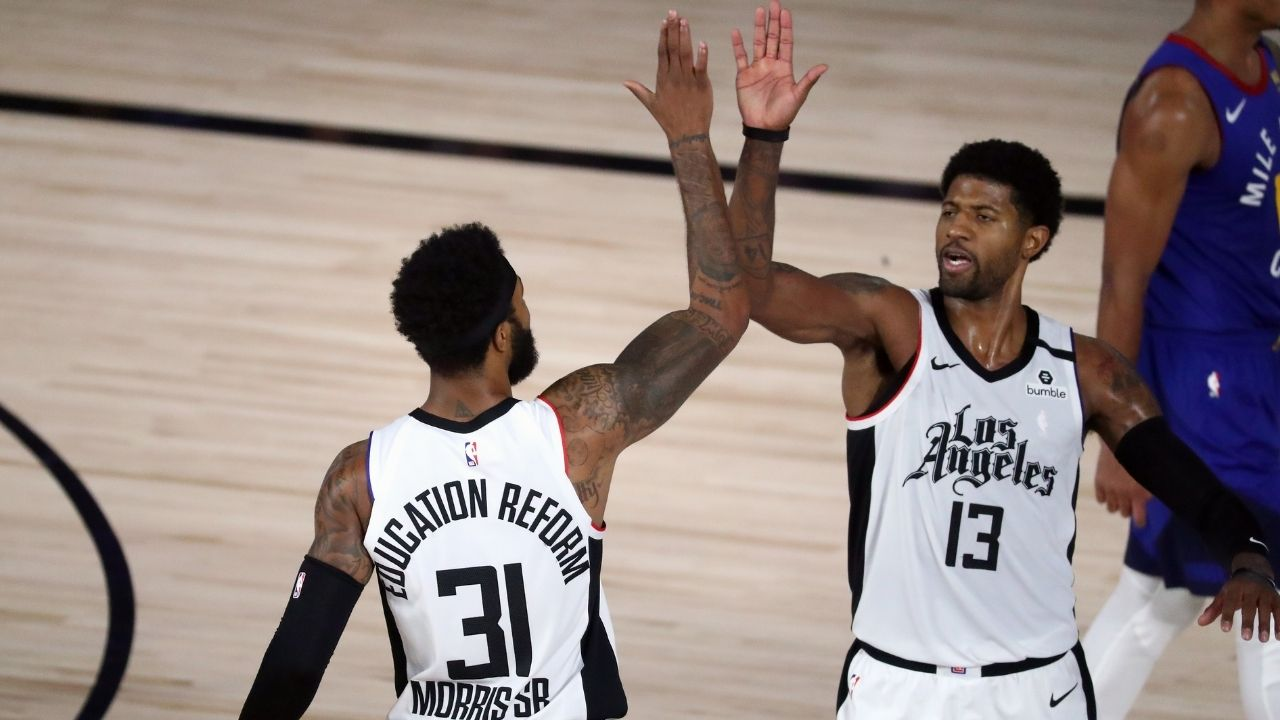 """""""Paul George is playing MVP ball"""": Marcus Morris backs Clippers star and teammate to have a career season following hot shooting start"""