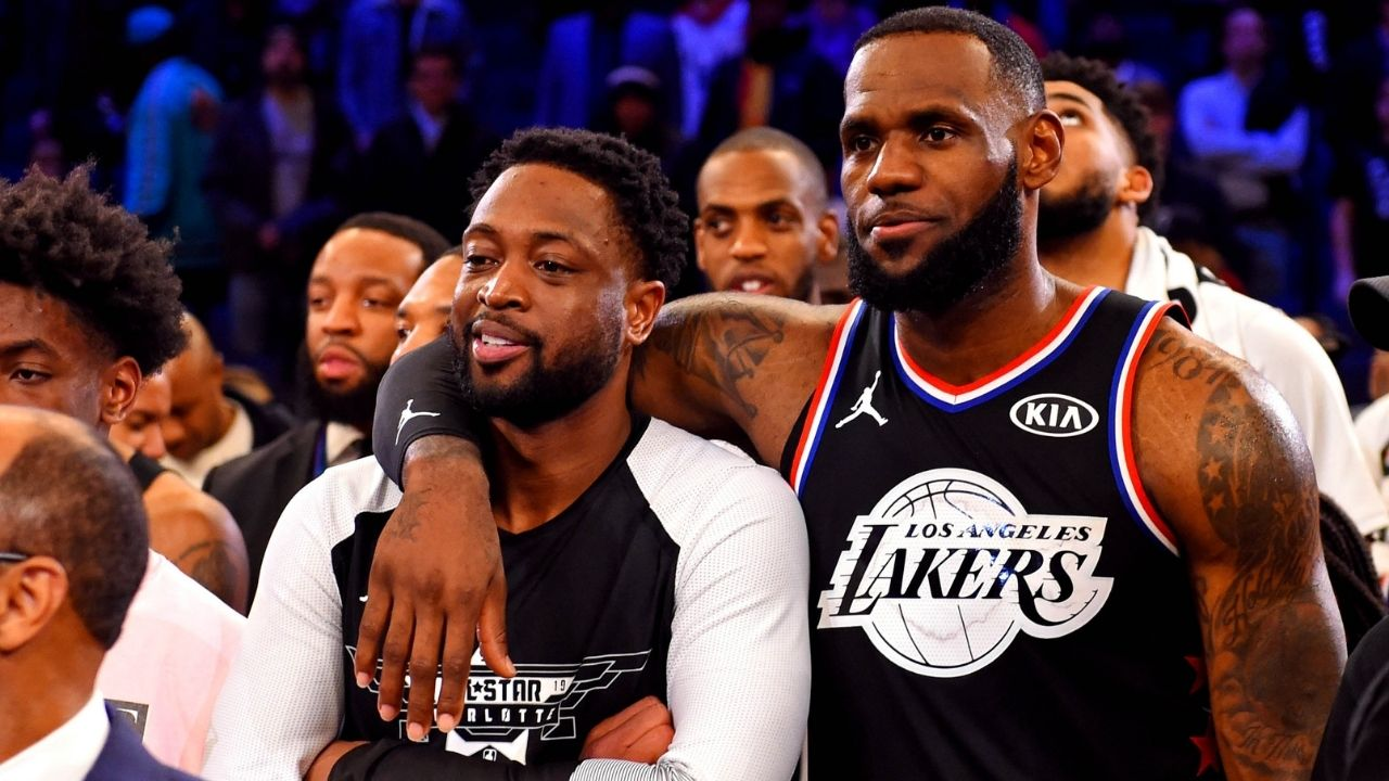 """""""Come on LeBron James, it's too easy"""": Heat legend Dwyane Wade expresses awe for Lakers superstar for epic assist to Kentavious Caldwell-Pope"""