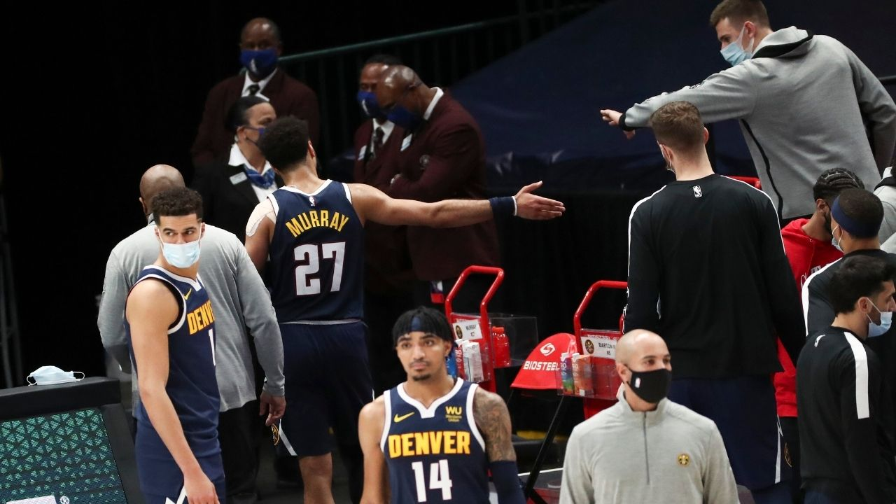 'Jamal Murray can use this as a learning experience': Mike Malone consoles Nuggets point guard after his ejection for hitting Tim Hardaway Jr in the groin