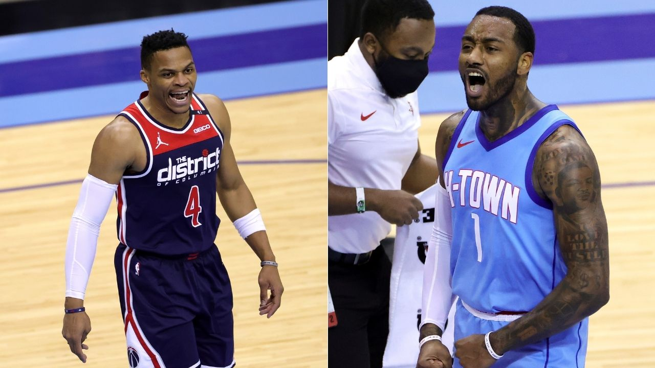 """""""Storm brewing between John Wall and Russell Westbrook"""": Fans react to altercation between star guards in Rockets win over Bradley Beal's Wizards"""