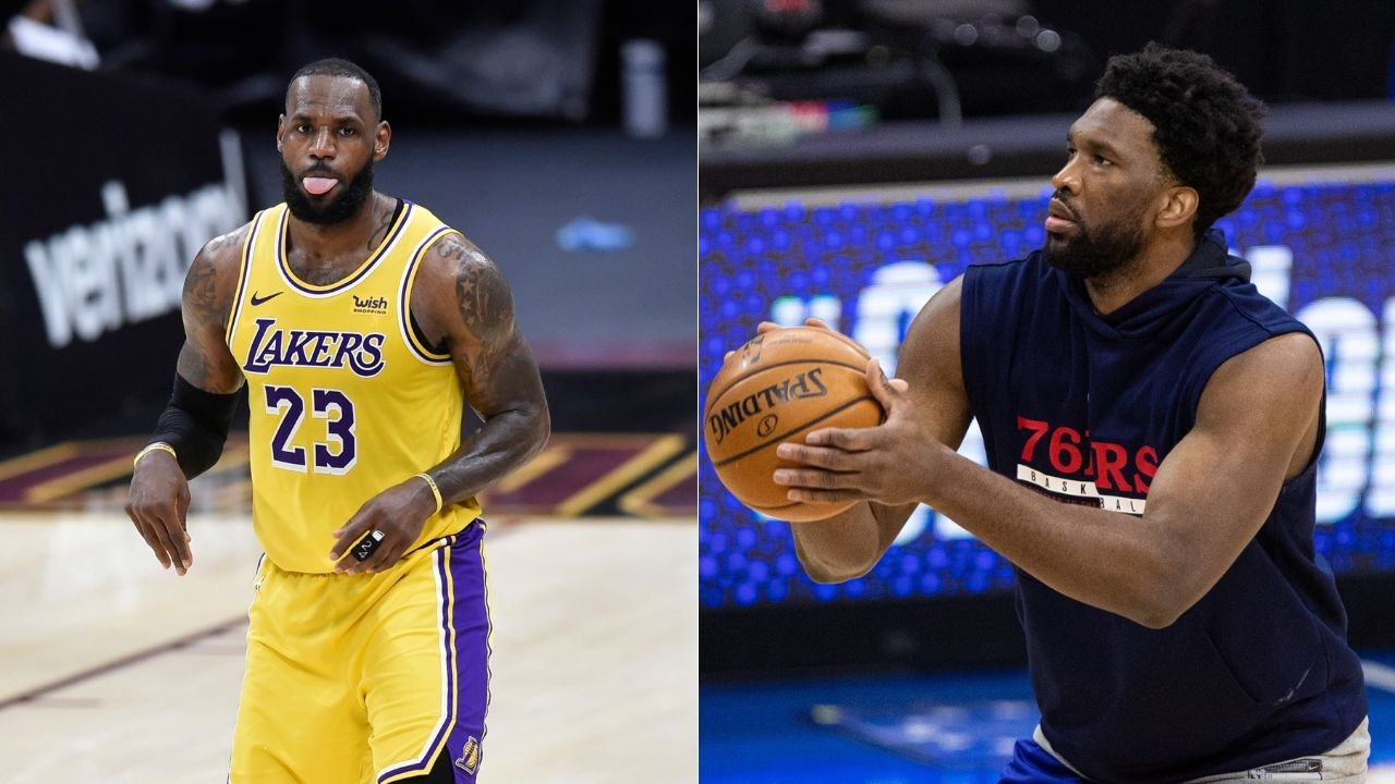 """LeBron James is a b**** for shoving Joel Embiid"": Skip Bayless rips apart Lakers star for stopping Embiid from posterizing him with flagrant foul"