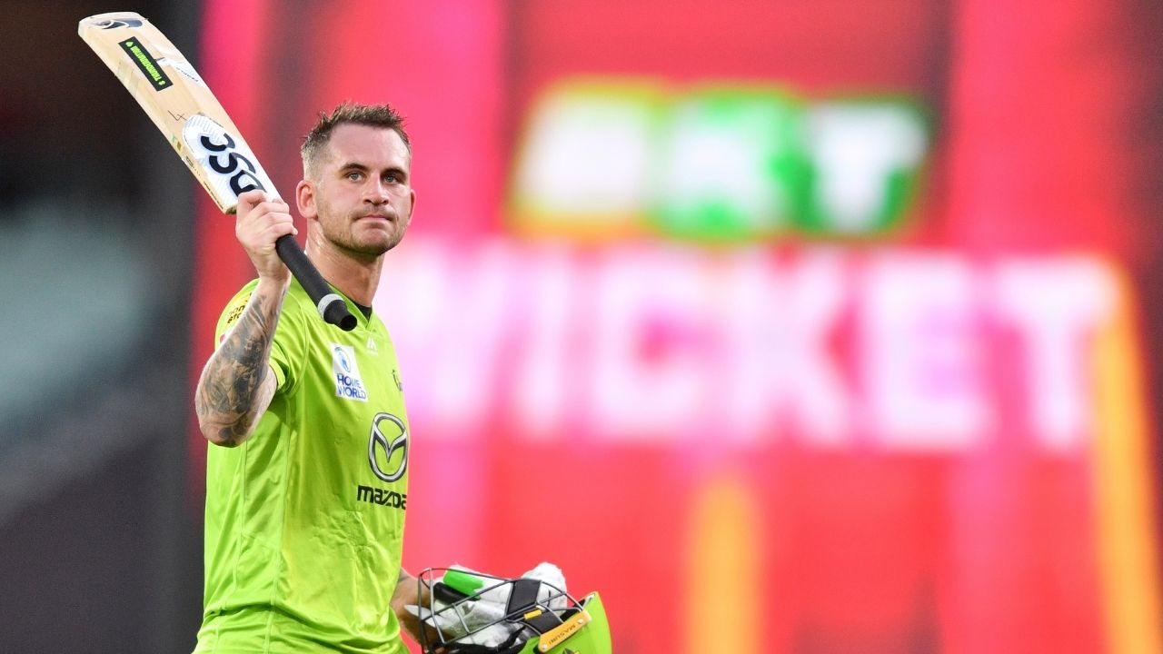 Hales cricketer: Alex Hales' maiden BBL century powers Sydney Thunder to highest-ever BBL score vs Sydney Sixers