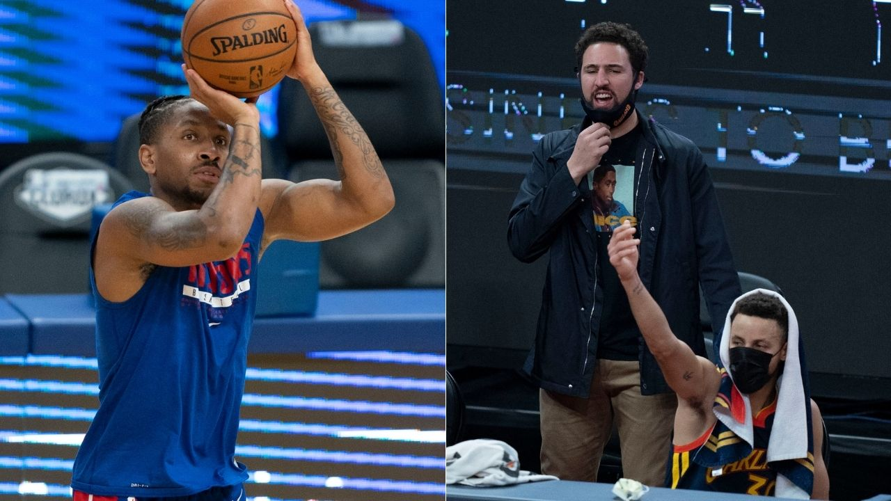 """""""Rodney McGruder might be out of the league soon"""": Reporter Klay Thompson roasts Pistons wing after Warriors' blowout win on the back of Curry's 28 points"""