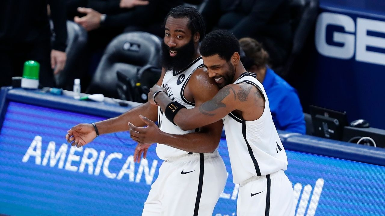 'It's gonna be a battle': Lakers' Anthony Davis hypes up prospective Finals series with Kevin Durant, James Harden and Kyrie Irving on the Nets