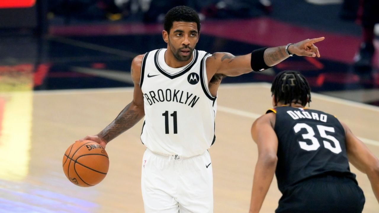 Nets' Kyrie Irving goes end to end for a tough and-one