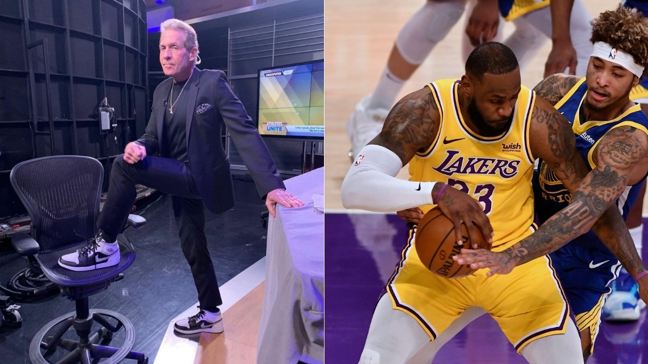 """""""LeBron James is an early-season 4th quarter disaster"""": Skip Bayless gleefully celebrates Lakers' loss to Warriors on MLK Day after blowing 19-point lead"""