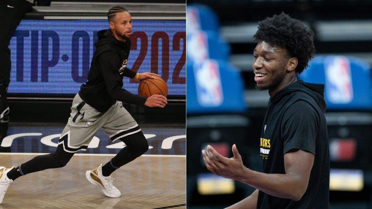 """""""I used to play with Steph Curry on 2k and drop 60"""": James Wiseman gives his props to Warriors legend for career high 62 points vs Blazers"""