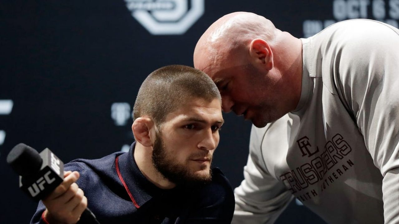 """Imagine what you and Conor do in another f*****g fight"": Watch Dana White convince Khabib Nurmagomedov to consider taking rematch with Conor McGregor; Informs him about the UFC 257 buzz"
