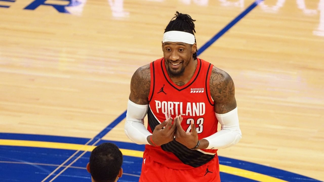 """""""Robert Covington will be on Shaqtin-a-Fool tonight"""": Warriors' bench goes NUTS as Blazers forward commits a bad turnover for double-dribble"""