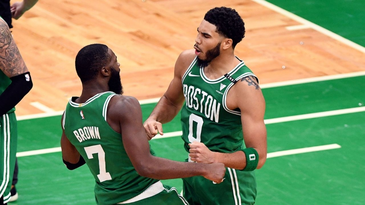 """""""Jayson Tatum and Jaylen Brown remind me of LeBron James and Kyrie Irving"""": Tristan Thompson compares Celtics young stars to Lakers MVP"""