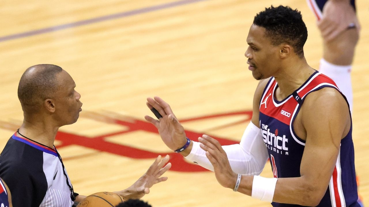 """""""Rajon Rondo waved Russell Westbrook goodbye"""": Former Lakers, Celtics star gets on Wizards star's nerves and gets him ejected in Hawks' 116-100 win"""