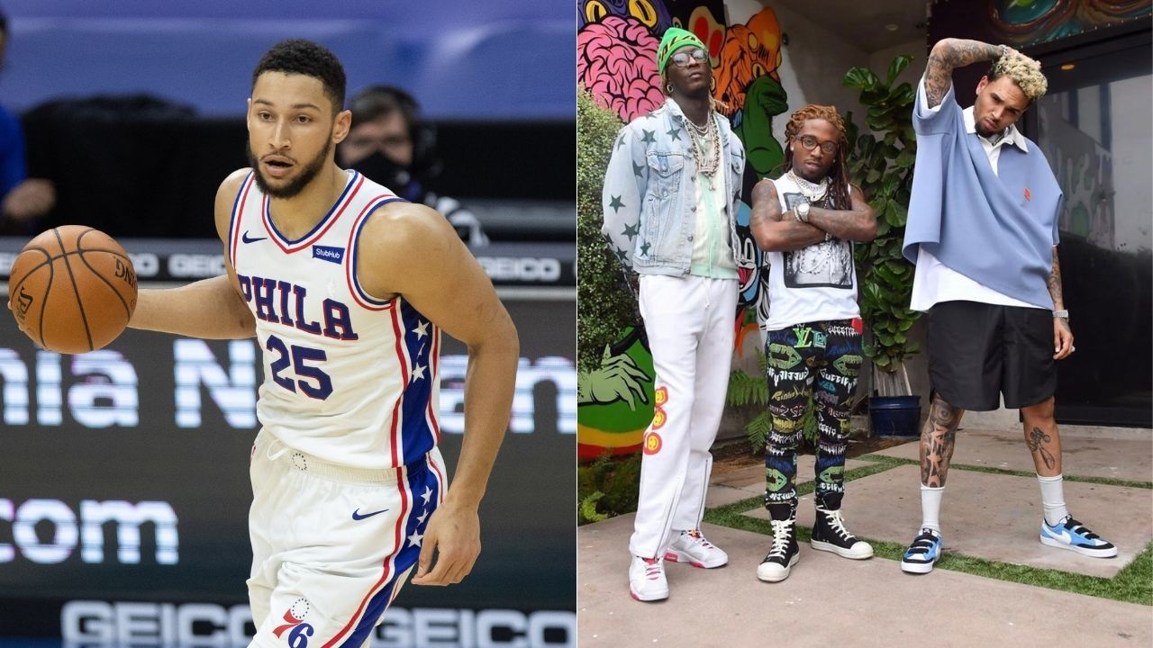"""""""Ben Simmons is the same old s**t basketball player, like Chris Brown"""": Musician has spectacular social media meltdown over comparisons to 76ers star"""