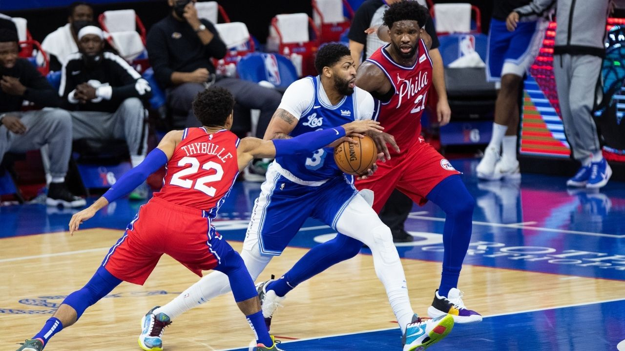 """""""Guarding Anthony Davis is easier than playing FIFA"""": Joel Embiid's hilarious answer to whether the Sixers star finds it easier to win on FUT champs or stifle the Lakers star"""